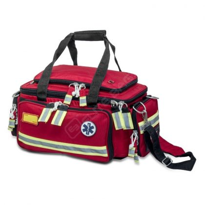 Emergency Basic Life SupportBag. EXTREME'S this almost a from view where you can see all the zippers and pockets.