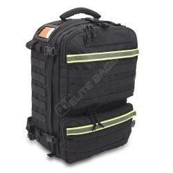 Mochila Táctico Sanitaria Soporte Vital viste fronta de la mochila negra