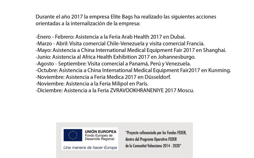 Internacionalización Elite Bags 2017
