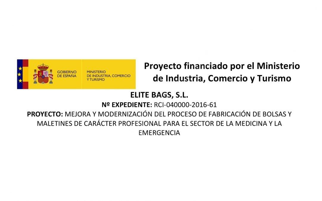 ELITE BAGS, S.L. Proyecto financiado por el Ministerio de Industria, Comercio y Turismo
